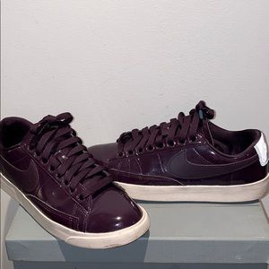 Nike Purple Patent Blazer Low Casual Sneakers 7